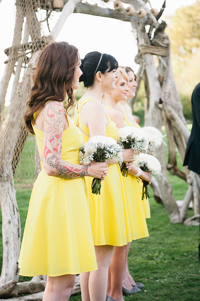 yellow bridesmaids| Meredith McKee Photography | Glamour & Grace