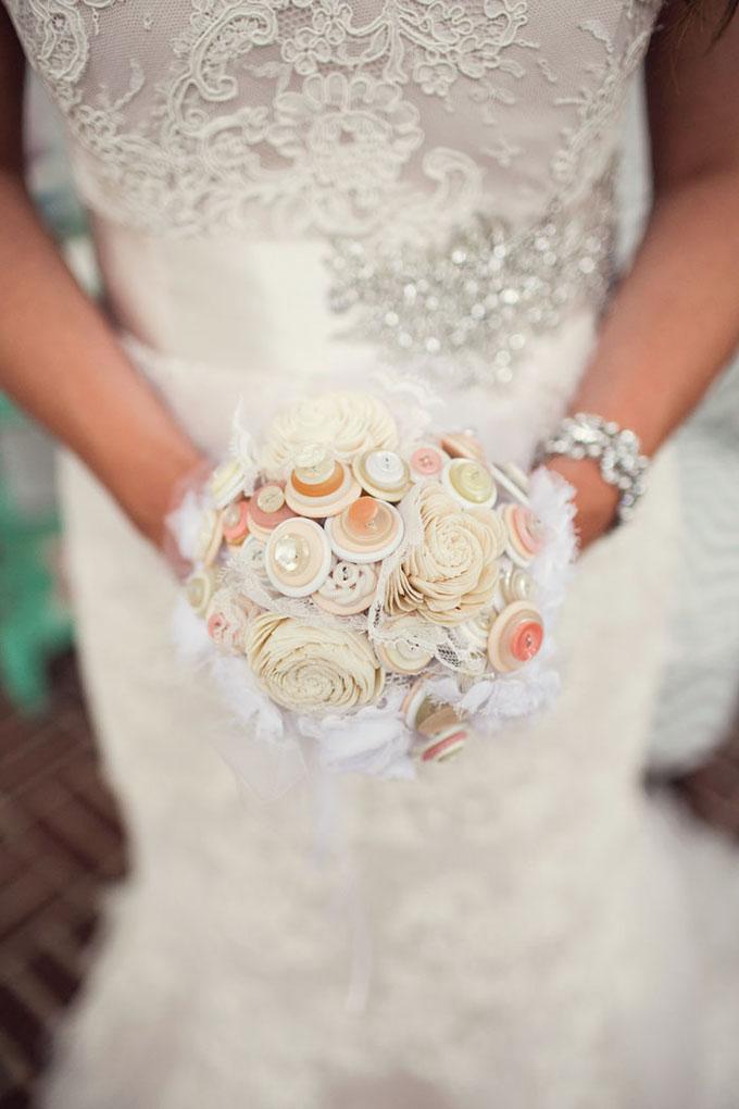 button bouquet | Melissa Tuck Photography | Glamour & Grace