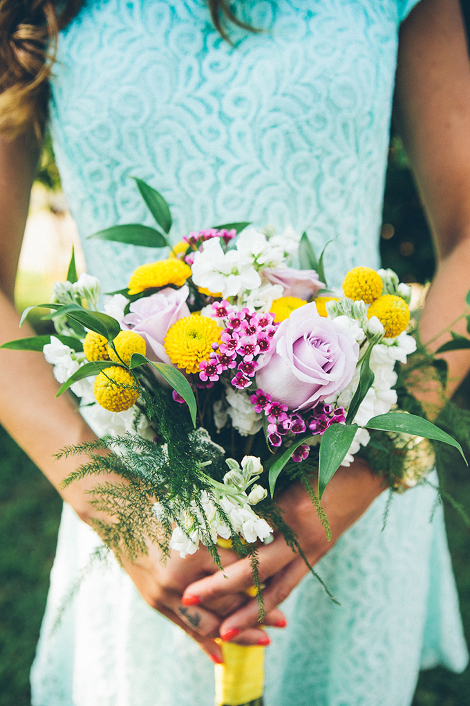 summer bridesmaid bouquet | High Five For Love Photography | Glamour & Grace
