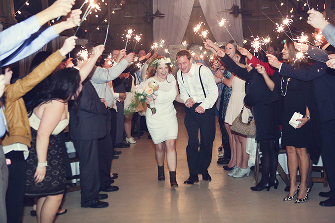 sparkler exit | Lukas & Suzy VanDyke | Glamour & Grace
