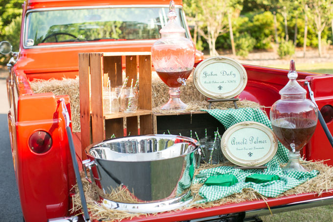 arnold palmer bar in the back of a truck | Macon Photography | Glamour & Grace