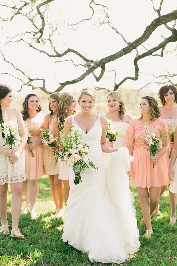 blush bridesmaids | Logan Howard Photography | Glamour & Grace