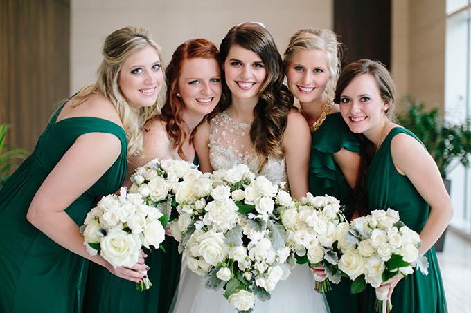emerald bridesmaids | Jamie Delaine Photography | Glamour & Grace