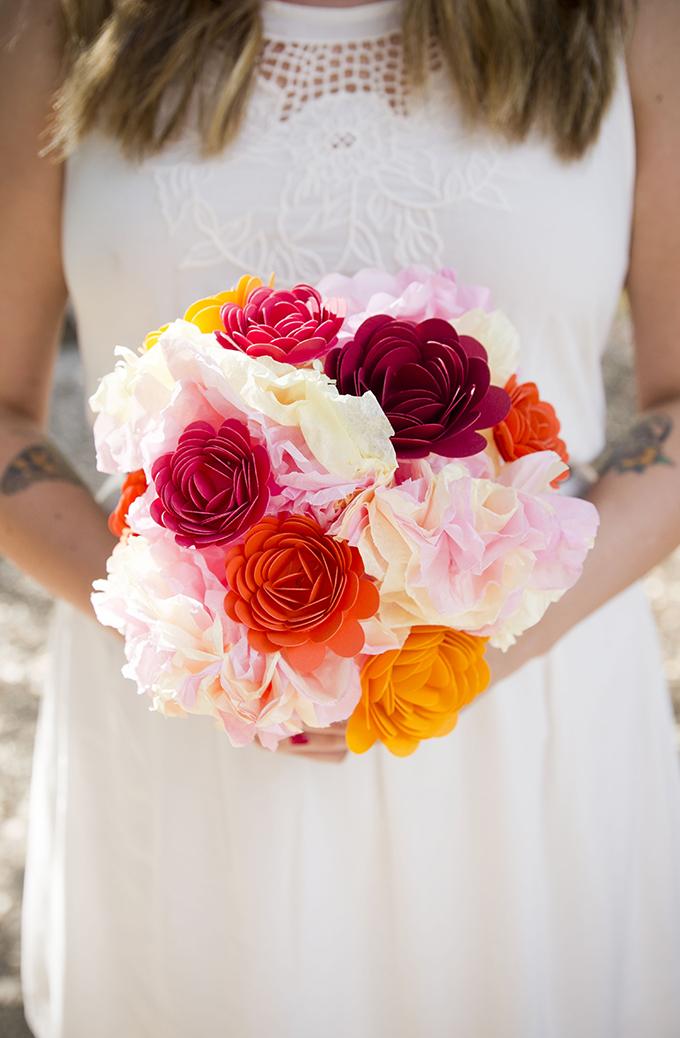 paper bouquet | Peterson Design & Photography | Glamour & Grace