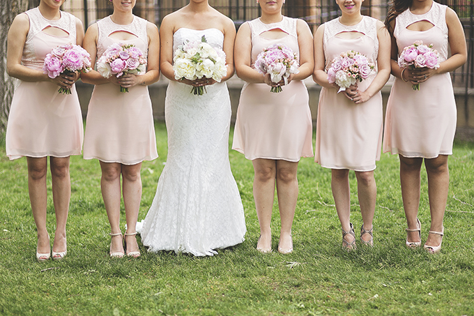 blush bridesmaids | Liz Anne Photography | Glamour & Grace