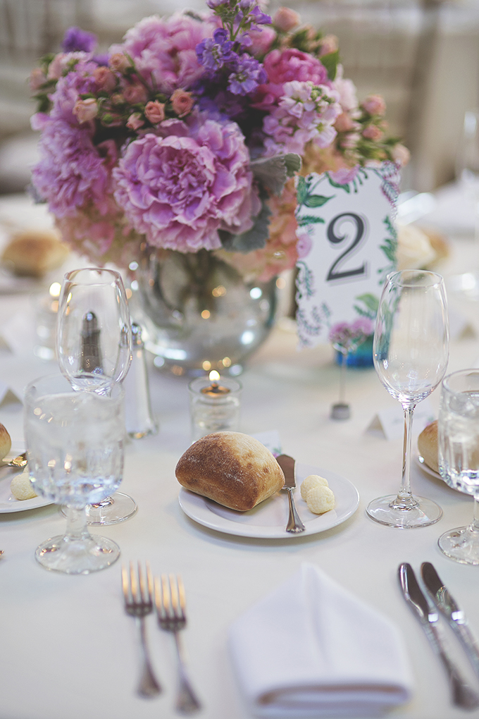 pink and teal centerpieces | Liz Anne Photography | Glamour & Grace