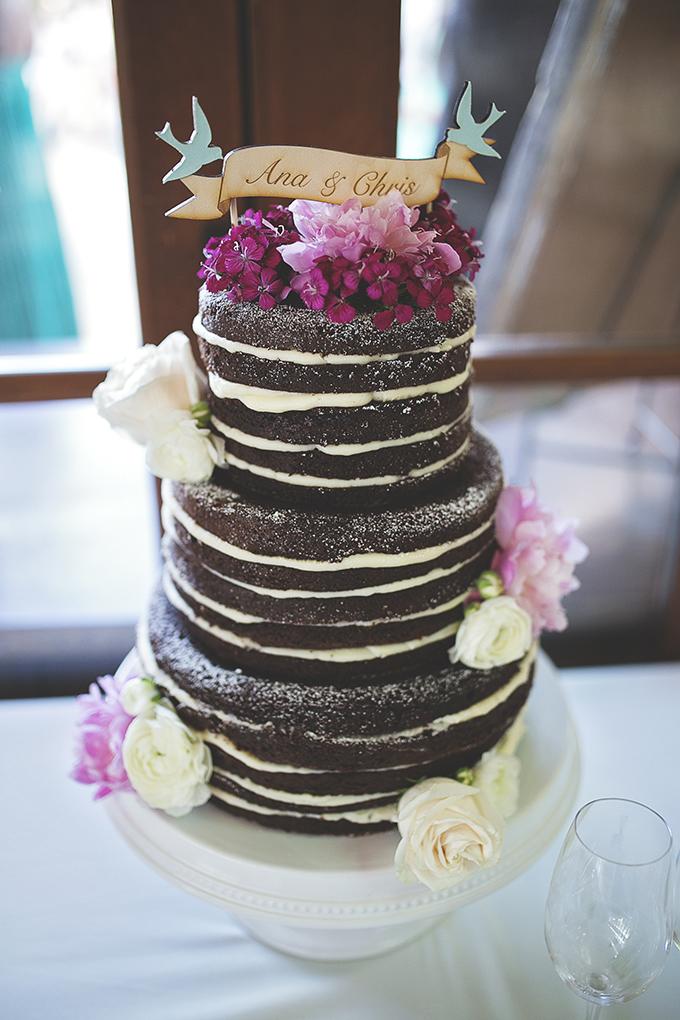 naked chocolate cake | Liz Anne Photography | Glamour & Grace