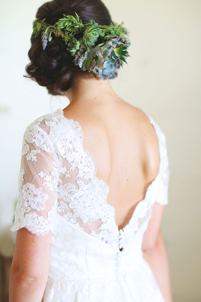 greenery crown | Melissa Enid Photography | Glamour & Grace