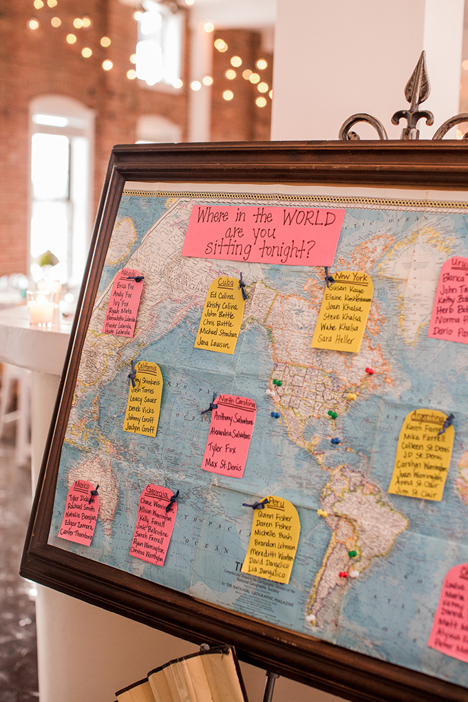 map seating chart | Meet The Burks | Glamour & Grace