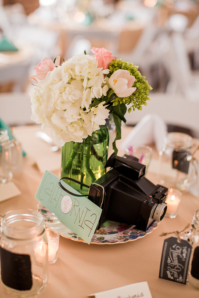 vintage travel centerpieces | Meet The Burks | Glamour & Grace