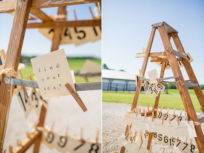 ladder escort cards | Two Maries | Glamour & Grace
