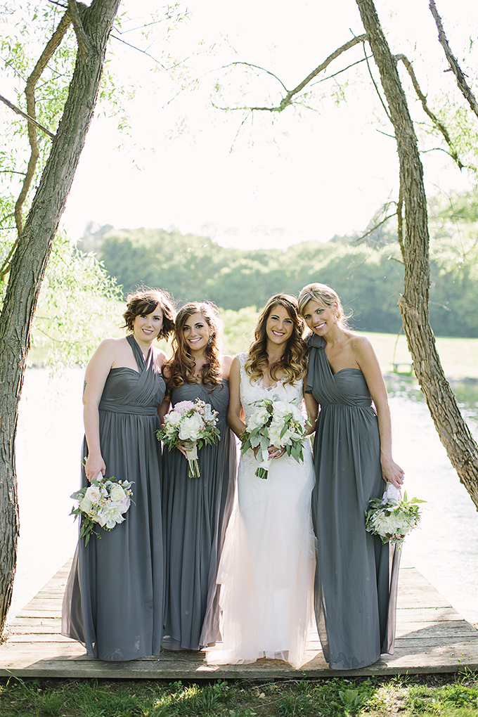 Jenny Yoo gray bridesmaids | Brooke Courtney Photography | Glamour & Grace