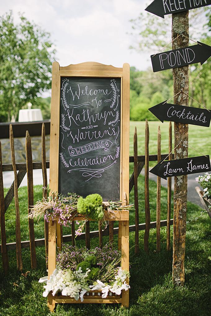 chalkboard signage | Brooke Courtney Photography | Glamour & Grace