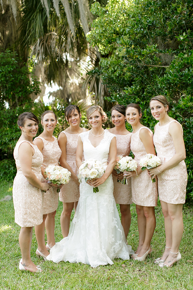 cream bridesmaid dresses | Bumby Photography | see more on Glamour & Grace