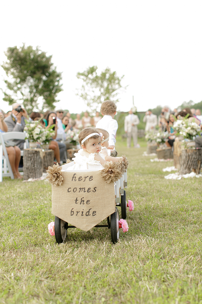 'here comes the bride' wagon | Bumby Photography | see more on Glamour & Grace