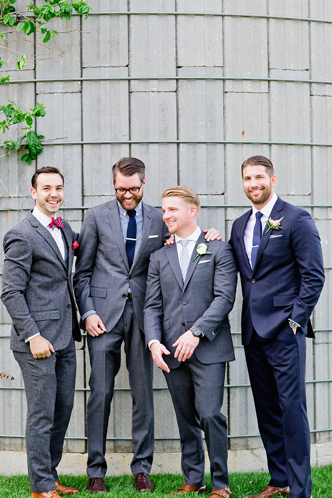blue and gray groomsmen | Cassandra Photo | Glamour & Grace