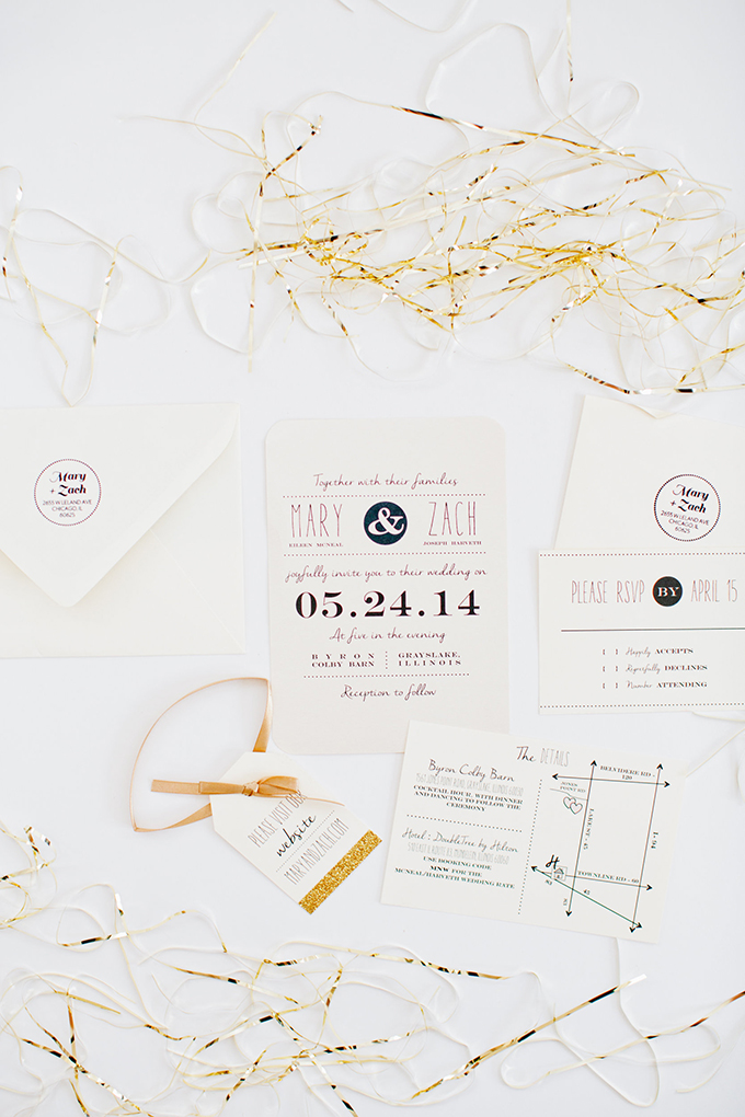 black and white invitations | Cassandra Photo | Glamour & Grace