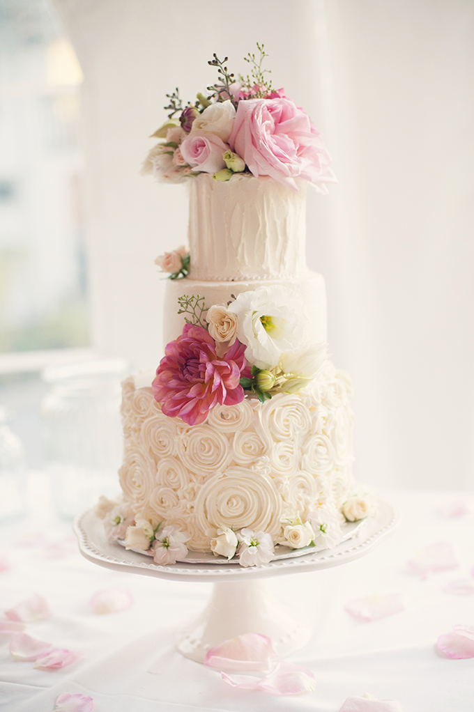 romantic pink cake | Melissa Gidney Photography | Glamour & Grace