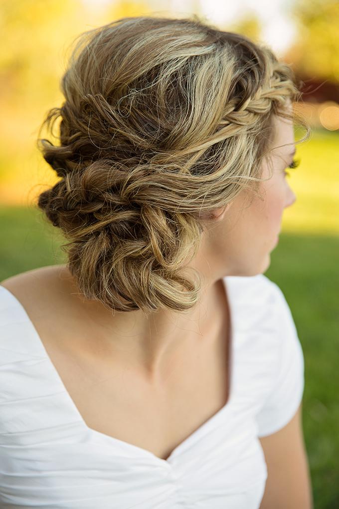 braided updo   Tara H. Photography   Glamour & Grace
