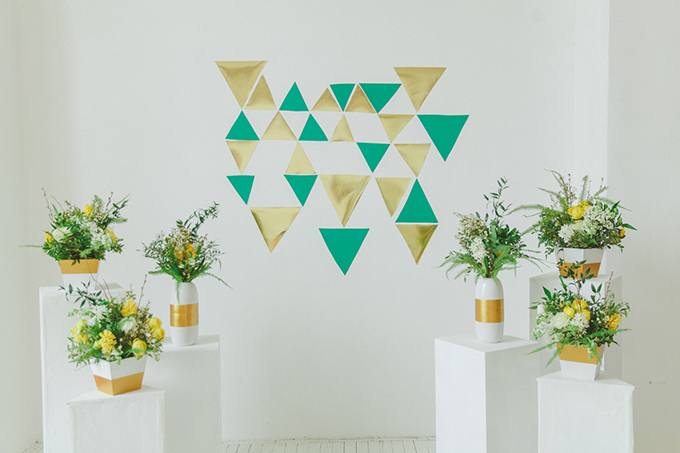 geometric ceremony altar | Warmphoto | Glamour & Grace