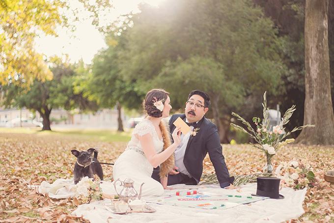 monopoly wedding inspiration | Sun & Sparrow Photography | Glamour & Grace