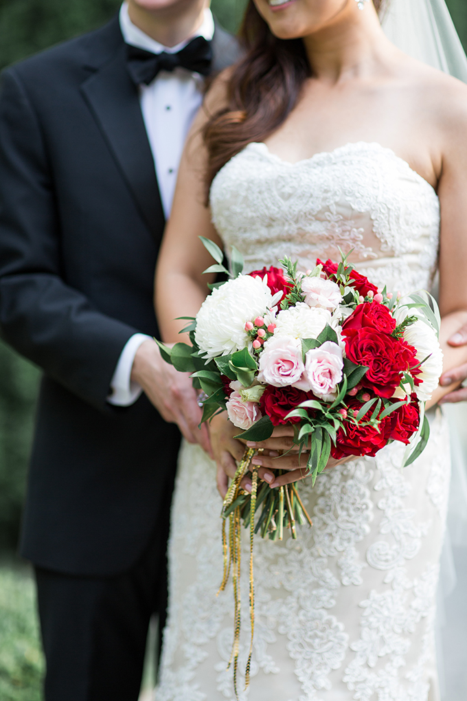 pink and red bouquet | Cory + Jackie | Glamour & Grace