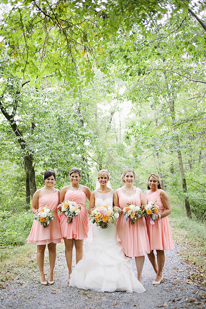 peach bridesmaids | Brooke Courtney Photography | Glamour & Grace