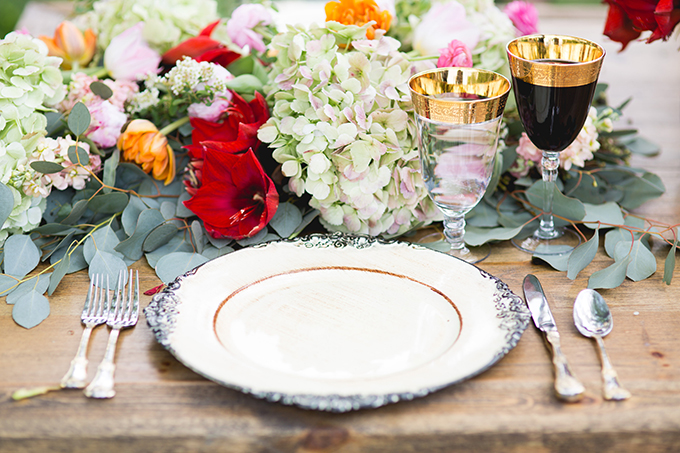 romantic place setting | Style & Story Creative | Glamour & Grace