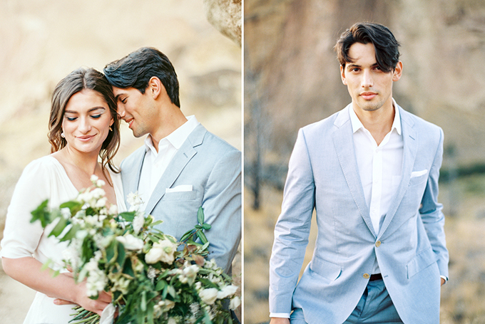 romantic blue wedding inspiration | Connie Whitlock Photography | Glamour & Grace
