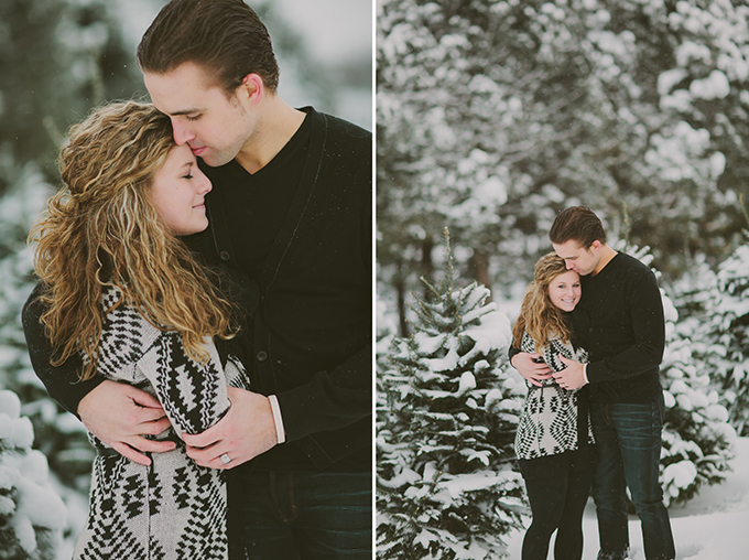snowy anniversary | Shaunae Teske Photography | Glamour & Grace
