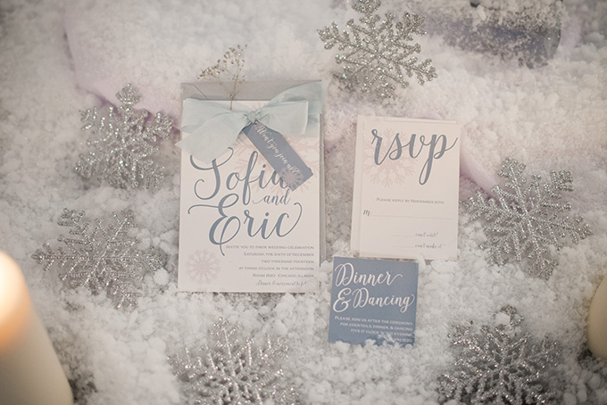 winter wedding invitations | Metts Photo | Glamour & Grace