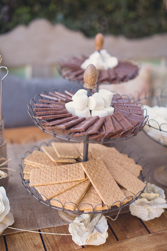 s'mores bar | Sun & Sparrow Photography | Glamour & Grace