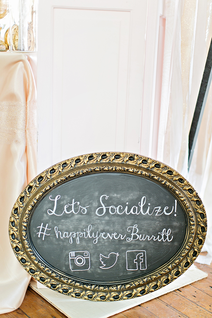 wedding hashtag | Megan Vaughan Photography | Glamour & Grace