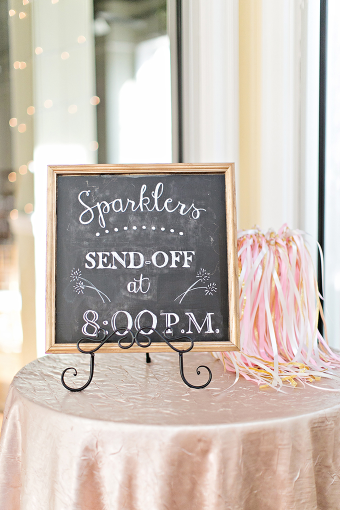 sparkler send off | Megan Vaughan Photography | Glamour & Grace