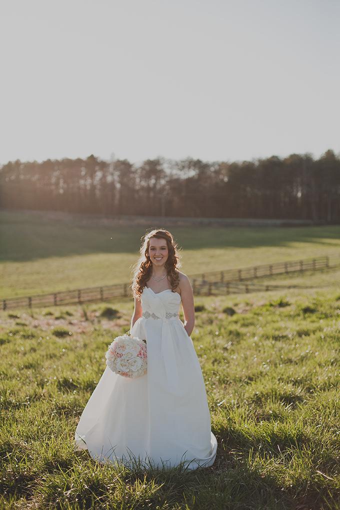 farm bridal portraits | Kelly Rae Stewart Photography | Glamour & Grace