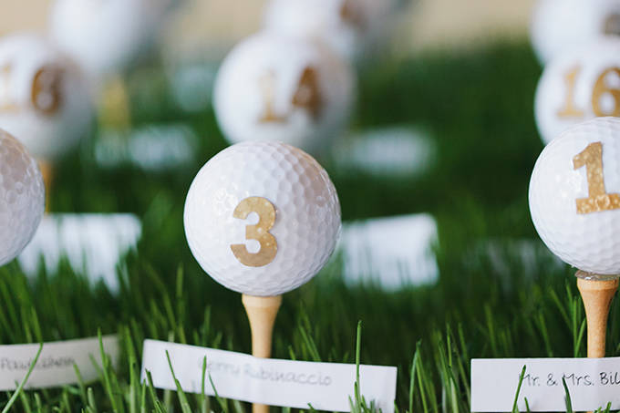 golf ball escorts | Jessica Connery Photography | Glamour & Grace