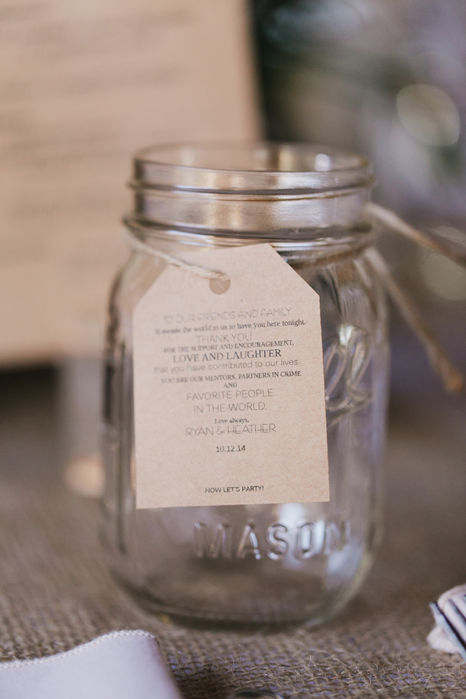 mason jar thank yous | Jessica Connery Photography | Glamour & Grace