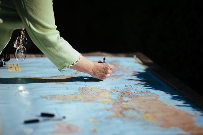 map guest book | Kemper Mils Fant | Glamour & Grace