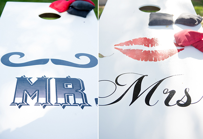 Mr and Mrs cornhole | kreatid photography & design | Glamour & Grace