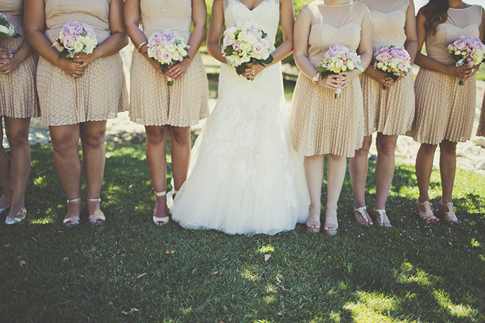 neutral bridesmaids | Sarah Kathleen | Glamour & Grace