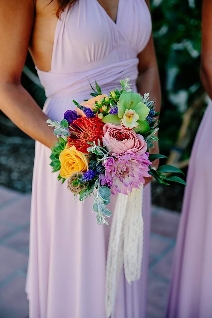 colorful bridesmaid bouquet | Caroline + Ben Photography | Glamour & Grace