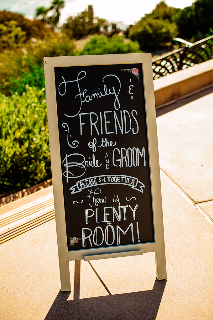 ceremony signs | Caroline + Ben Photography | Glamour & Grace