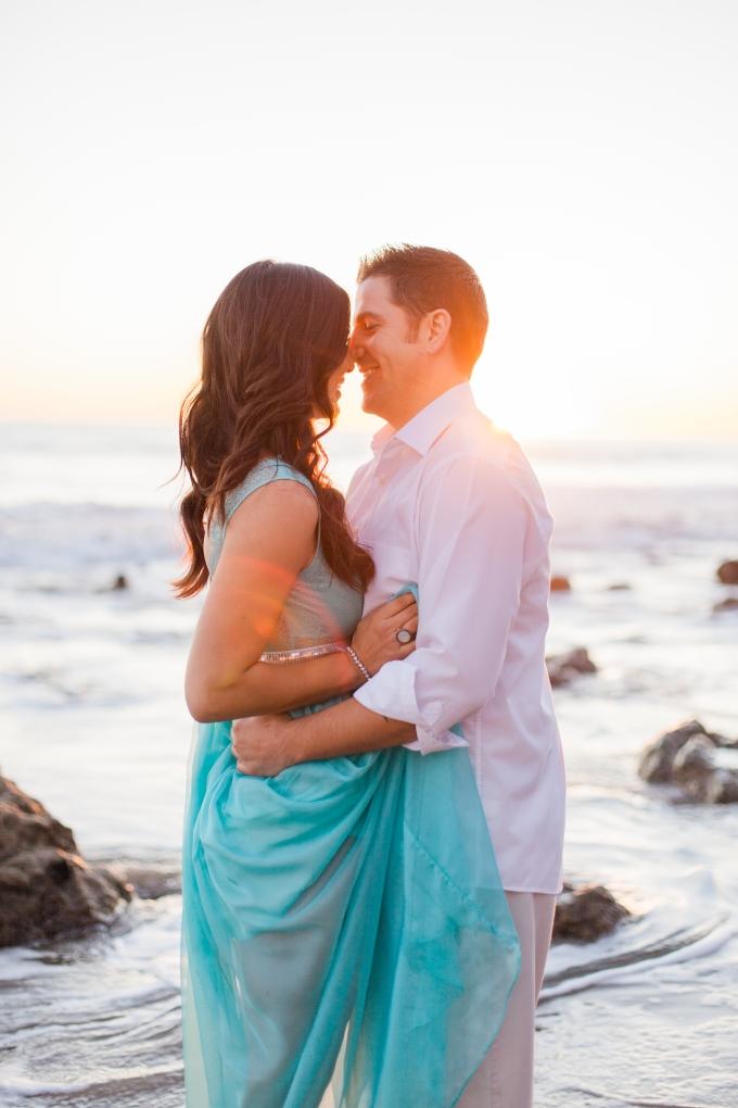 dreamy Malibu beach engagement | Danielle Bacon Photography | Glamour & Grace