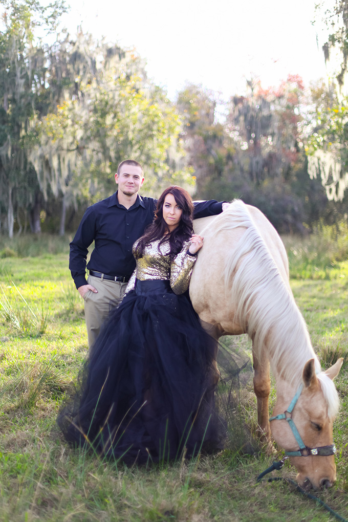 glam equestrian engagement | Photography Blu | Glamour & Grace