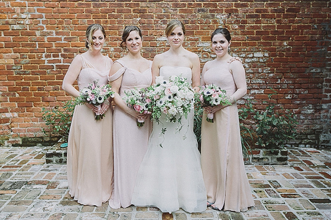 neutral bridesmaid dresses | Maile Lani Photography | Glamour & Grace