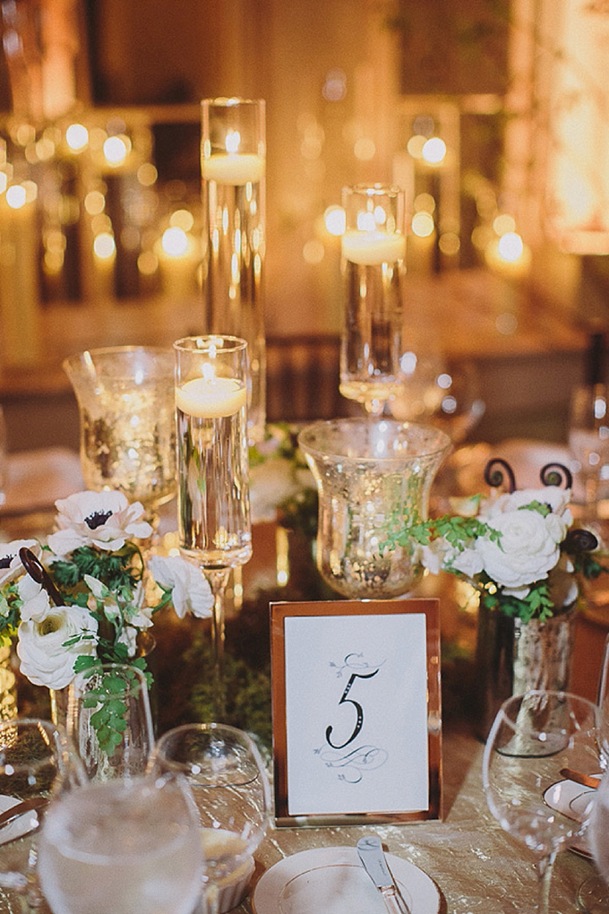 romantic candle centerpiece | Maile Lani Photography | Glamour & Grace