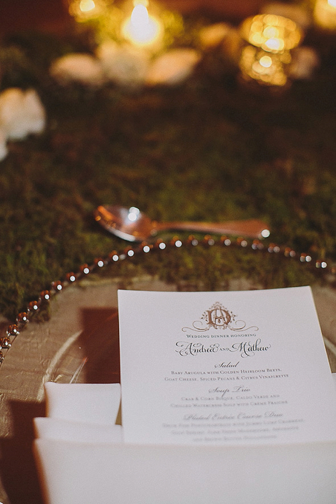 elegant place setting | Maile Lani Photography | Glamour & Grace
