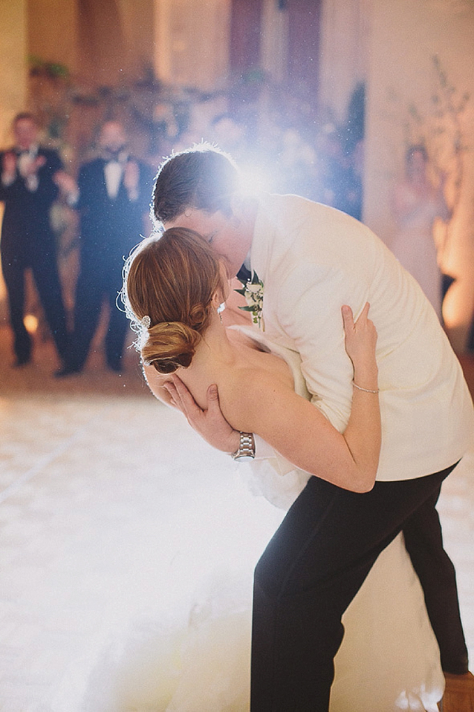 first dance kiss | Maile Lani Photography | Glamour & Grace