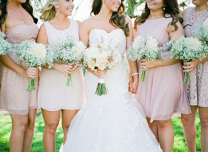 blush bridesmaids | Brittany Lauren Photography | Glamour & Grace