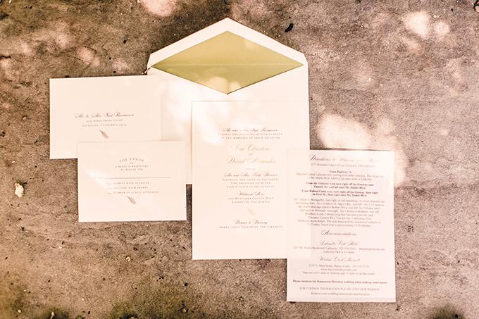 classic white invitation | Courtney Stockton Photography | Glamour & Grace